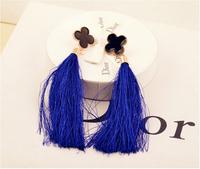 jewelry vintage earrings drop earring black fashion tassel earrings female for women brincos long earrings