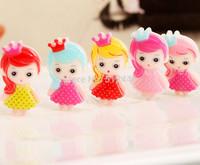 25pcs Mixed color Resin kawaii Girls flatback Crown Cartoon cabochon