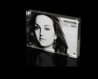 "5inch Acrylic Magnetic  Photo Frame 5"" Photo Frame Crystal Desktop Sign Holder Card Stand"