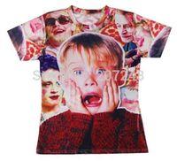 2015 New high quality Women's Men's Short Sleeve T shirt Fashion  Macaulay_Culkin Print 3D t shirt S M L XL XXL