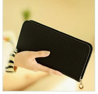 Zipper Closure Genuine Leather Women Clutch Wallet Purse Money Clips Bag Lady Wallets Support Dropship