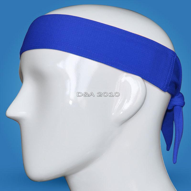 Спорт спортивный баскетбол волейбол футбол Sweatband гибкая повязка на голову синий цвет