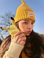 Wholesale Fashion Cute Cartoon Long ears Pikachu Soft plush cover phone shell 4.7/5.5 inch case for iphone 5 5s 6 6plus case