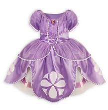 Novo 2015 Disfraz Princesa Sofia menina Vestidos De traje vestido Princesa Sofia Roupas Infantil De Meninas roupa ocasional vestido De crianças(China (Mainland))