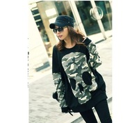 Fashion new design black skull printed hoodies for women thick spring women's casual comfortable hoody OMBG 024