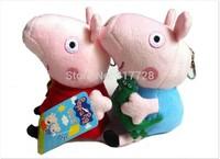 Free Shipping Pepa/Pepe/Pepper/Pink Pig plush toys George pig dolls anime Peppa pig Plush toys doll