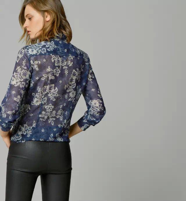 Блузка Zara Весна С Колибри