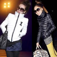 Snow wear wadded jacket female 2014 autumn and winter jacket women slim short cotton-padded jacket outerwear winter coat women