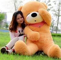 New Giant 200CM/78''inch TEDDY BEAR PLUSH HUGE SOFT TOY Plush Toys Valentine's Day gift Sleepy Bear 2m Squinting Bear brown