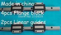 20mm Linear guides Rail Bearings 2 L700mm + 4 HGW20CA