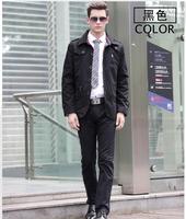 Free shipping men casual long jackets and coats outwear casaco masculino 4 colors M L XL XXL