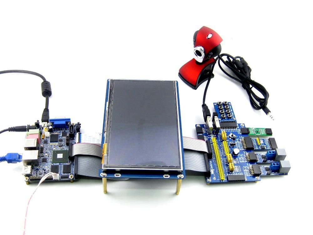 E9 Mini PC Pack B Freescale i.MX6 Contex-A9 Quad 1 GHz 2 GB DDR3 8GB eMMC Mini PC+DVK720+7inch LCD+9 Acce. Kit Development Board(China (Mainland))