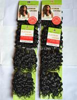 Free Shipping braiding hair curly braids blended hair free women platiunm crown aisha jerry 1# 10Packs Factory On Sale