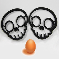 skull egg mold egg shaper silicone mouldsskull egg ring silicone mold cooking tools christmas supplies