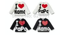 Hot sale,high quality chil clothes,I love papa I love mama baby boy's/girl's  t-shirt ,20pcs/lot