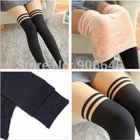 Hot sale K428 2014 winter new women's thicken leggings high elastic false high warm knitting skinny pants wholesale and retail
