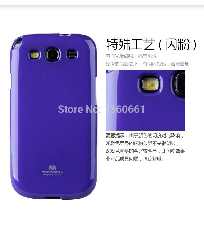 Korea Original Mercury GOOSPERY Jelly Case TPU Case for Samsung Galaxy S3 III S3 i9300 9300 TPU case +package(China (Mainland))