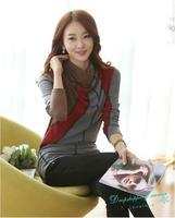 Women Autumn and Winter Coat Slim Cotton t-shirts Women Long-sleeved T-shirt Women Temperament t shirts Free Shipping