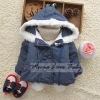 New Hot sales Winter Girls Hoodies Outerwear Coats Children's Coat Baby Girls Coat For 1-8Y Kids SV009238