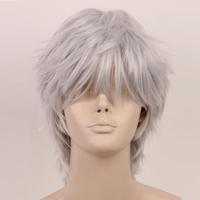 [wamami] Adult Straight Short Wig Anime Gintama kamui Sakata Gintoki Cosplay Man Wig