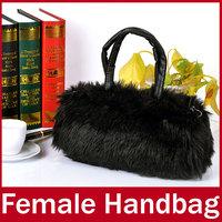 2015 New Brand Fashion Winter Fur Women Handbag Small Ladies Zipper Hand Totes Bag For Female