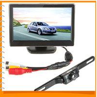 5 Inch TFT LCD Display Car Rear View Monitor Auto Car Parking Reverse Monitor + 420TVL CMOS Wireless Car Rear View Backup Camera
