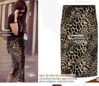 2015  New Arrive  Sexy Leopard Women High Waist Slim Hip Skirts 2015 Spring and Summer Skirts  TSP1758