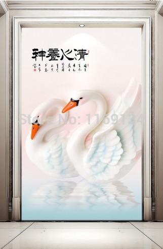 Online kopen wholesale zwaan wallpaper uit china zwaan wallpaper groothandel - Behang ingang gang ...