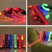New hot flash luminous dog collar, large and small dog fashion pet supplies, led dog collar, pet products wholesale