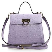 women handbag shoulder bag real leather bag motorcycle bag Ostrich grain bag