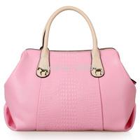 women handbag shoulder bag real leather bag motorcycle bag crocodile grain female bag