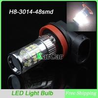 2PCS/Lot 3014 48 SMD H8 LED Fog Lights, H8 Head Light Car LED Daytime Lights DRL Light Super Bright Bulbs White