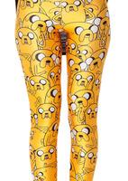 fashion Digital printing slim thin leg pants women adventure time leggings Dropship BXYD014