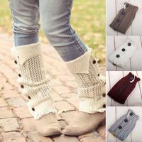 Women's Soft Crochet Knitted Lace Trim Boot Cuffs Toppers Leg Warmers Socks