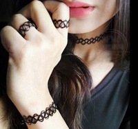 Europe and the United States fashion tattoo necklace blasting in suits set+ Free shipping
