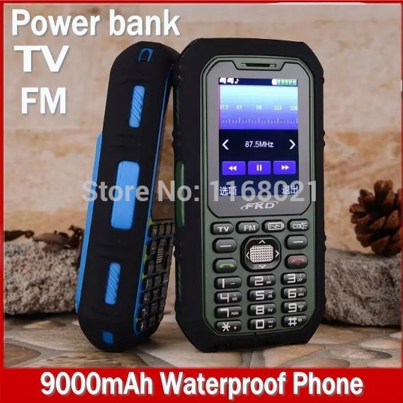Luxury waterproof phone TV mobile phone Flashlight FM Backup power bank outdoor cell phones dustproof shockproof Smart Wechat(China (Mainland))