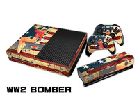New WW2 BOMBER Game Decal Skin Stickers For Xbox One Console+2Pcs Stickers For XboxONE Controller + Kinect TN-XboxOne-0001