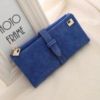 2015 NEW free shipping buckle design zipper wallet  women wallets lady purse LZ-646