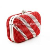 Good Quality Ladies Aluminum Sheet Evening Bags Alloy Sequin Clutch Bag with Shoulder Chain Handbag Gold 50014