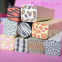 Cheapest Price $15.9  50Pcs #048 1*5 CM Mixed Animal Print Polymer Clay Canes Nail Beauty Wholesale and Retail