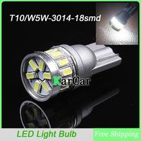 10PCS/Lot W5W 3014 18 LED Door Lights Car Clearance Lights, Wholesale T10 Marker Bulbs Rear Tail Light