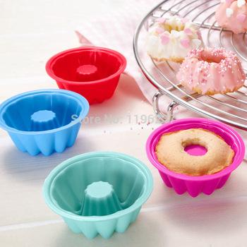 8pcs Chiffon Form to Bake Silicone Baking Dish Bread Cake Mold Tray Pan Bakeware Mould Decor Baking Tools