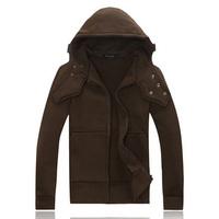 free shipping men's hoodies fashion cofe color hoody coat men outdoor autumn hoodies  T25
