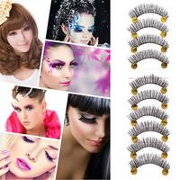 10Pair Makeup False Eyelashes Soft Natural Cross Long Eye Lashes Extension