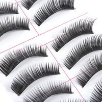 10 pairs Natural Makeup Soft Thick Long False Eyelashes Eye Lashes Makeup