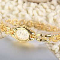 Casual Watches Unisex gold Case Dress watch elegant gold dial quartz Watches steel belt analog wristwatches sample order