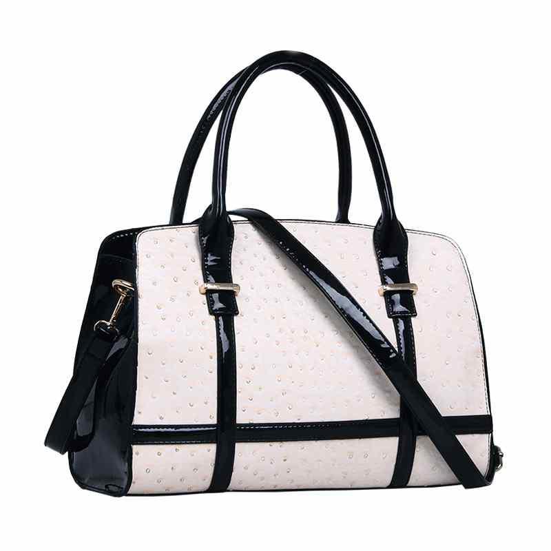 DreamLing leather double 12 leather handbag ostrich pattern fashion shoulder bag(China (Mainland))