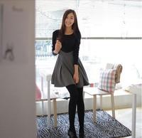 Vestidos 2014 Winter Women Party Evening Dress sexy fashion casual long-sleeved black dress Maxi