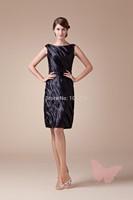 Black Slim mature prom dress.