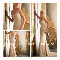 Hottest sell Mermaid Deep V neck Heavy beaded Wedding Dresses WD1308